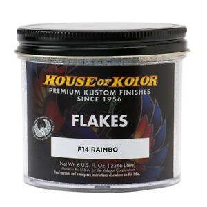 House Of Kolor F14 c01 Rainbo Dry Flake 1 64 Custom Paint Sparkle Effect 6 Oz