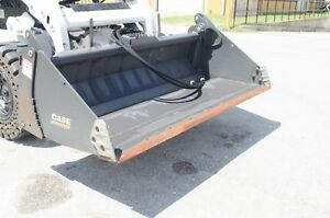 Case bradco 78 4 In 1 Bucket For Any Skid Steer factory Demo Doze grab Grade