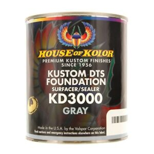 House Of Kolor Kd3000 q01 Kustom Dts Foundation Surface sealer Gray Quart