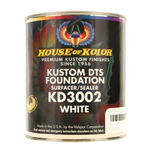 House Of Kolor Kd3002 q01 Kustom Dts Foundation Surfacer sealer White Quart