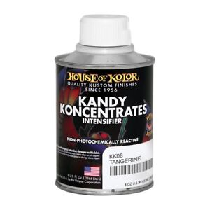 House Of Kolor Kk08 C02 Tangerine Kandy Koncentrate Paint Intensifier 1 2 Pint