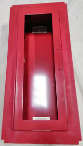 Fire Extinguisher Cabinet W glass Alarm Red Nystrom Fire Safety Equipment