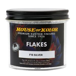House Of Kolor F15 c01 Silver Dry Flake 1 64 Custom Paint Sparkle Effect 6 Oz