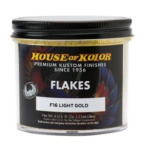 House Of Kolor F16 C01 Lite Gold Dry Flake Custom Paint Sparkle Effect 6 Oz