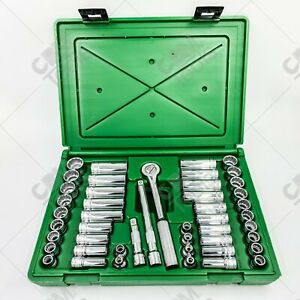 Sk Hand Tools 94547 12 47pc 3 8 Dr Deep Standard Metric Fractional Socket Set