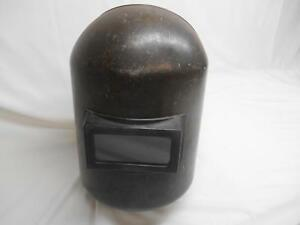 Old Vtg Jackson Welders Helmet Welding Glass Lens Welder Equipment Steampunk