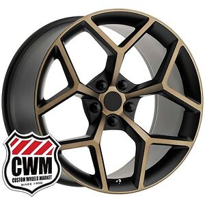 Oe Replica 126bb 20 Inch 20x9 20x10 Chevy Camaro Z28 Black Bronze Wheels