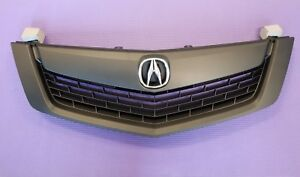 Acura Tsx 09 10 Front Bumper Upper Grill Grille All Black W Moulding W Emblem