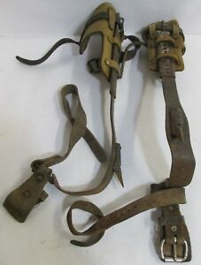 Klein Tools Pole tree Climbing Spurs Gaffs Spikes 8210 R L Made In Usa