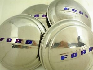 Ford Dog Dish Hubcaps 1947 1948 1949 1950 1951 1952 1953 1954 Truck Car F100