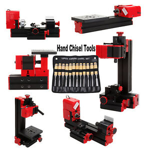 6 In1 Mini Drilling Milling Grinder Sawing Metal Lathe Machine Hand Chisel Tools