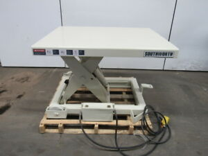 Southworth Pls4 24 4000lb Hydraulic Scissor Lift Table 40x48 7 3 4 31 Height