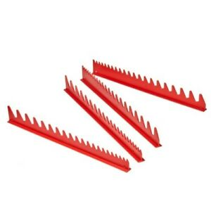Ernst Manufacturing Wrench Rail Set 40 Tool Organizer Storage Tools Holder Red