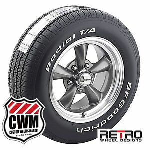 15 Inch 15x7 Gray Wheels Rims Bfg Tires 225 60r15 For Chevy Chevelle 1964 72