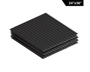 Adiroffice Black Corrugated Plastic Sheet 24in X 36in Pack Of 12