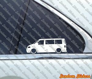 2x Lowered Car Stickers For Volkswagen Vw T5 Transporter Multivan