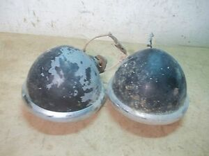 Pair Old Farm Tractor Guide Lights