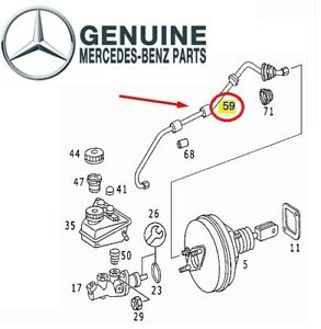 For Mercedes W202 C220 Intake Manifold To Brake Booster Vacuum Hose Line