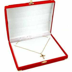 Red Velour Necklace Jewelry Gift Box Showcase Display Kit 6 Pcs