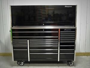 Snap On Black Krl1023 Tool Box Stainless Top And Krl1072 Hutch