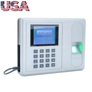 2 4 Tft Employee Fingerprint Recorder Attendance Clock Time Machine Dc 5v X1i1