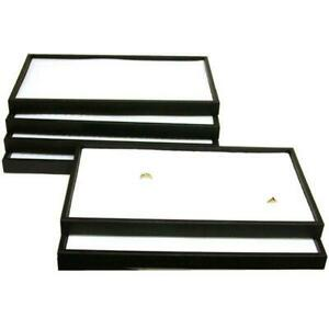 6 72 Slot Ring Display Box Trays Case Fixture