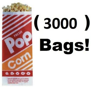 3000 Count Gold Medal 2053 1 Oz 3 3 1 2 X 2 1 4 X 8 Popcorn Bags