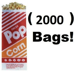2000 Count Gold Medal 2053 1 Oz 3 3 1 2 X 2 1 4 X 8 Popcorn Bags
