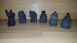 Chinese Carved Figures 6 Human Figures 2 5 3 Tall 181001004