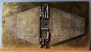 Vtg 70s Brutalist Asian Mixed Metal Wall Hanging Retro Mid Century Modern Evans