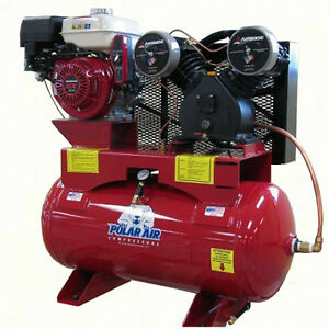 8 Hp 30 Gallon Gas Driven Air Compressor By Eaton