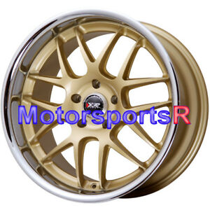 Xxr 526 20x9 13 Gold Deep Lip Rims Wheels 5x114 3 Fit 09 17 18 Nissan 370z Base