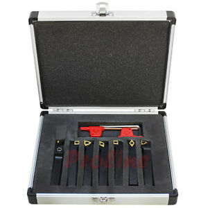 7 Pc 3 8 Indexable Carbide Turning Lathe Tool Set Sclcl Sdjcr Swgcr Sdncn