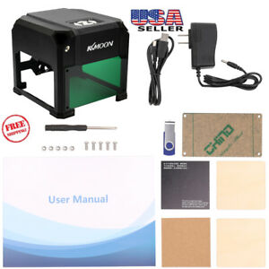 2000mw Desktop Laser Engraving Printer Machine Logo Marking Engraver Cutter Us