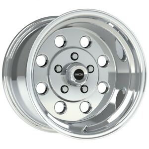 15x10 Vision Sport Lite Pro Drag Polished Racing Wheel 5x4 75 6 5 bs 1pc No Weld