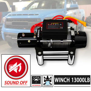 Mute Win 2x 13000lb Dc 12v Electric Auto Brake Ip67 Waterproof Winch Kit