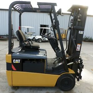 Caterpillar Model Et3000 2006 3000lbs Capacity Great 3 Wheel Electric Forklift