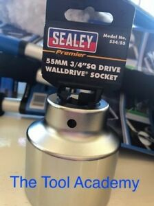 Sealey Chrome Vanadium Socket 55mm 3 4 Drive 12 Point Bi Hex