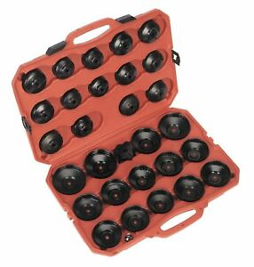 Sealey Tools Large 30 Piece Master Oil Filter Wrench Socket Tool Set Storage