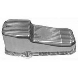 Racing Power Company R8442 Polished Aluminum Stock Oil Pan For Small Block Chevy