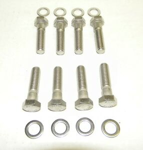 Bb Dodge Mopar 383 400 440 Stainless Steel Intake Manifold Bolt Kit New