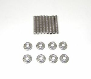 Small Block Chevy Stainless Steel Dual Quad Carb Stud Kit New