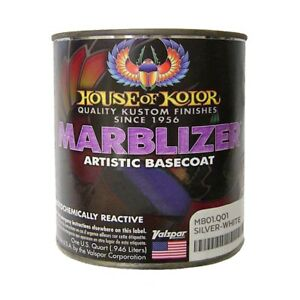 House Of Kolor Mb01 q01 Shimrin Silver white Marblizer Effect Basecoat Quart