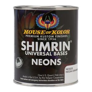 House Of Kolor Ne503 q01 Shimrin Orange Neon Basecoat Paint Quart