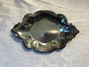 International Silver Co Silverplate Tray Nut Candy Dish Vintage Home Decor