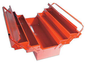 Laser Tools New Red Steel Metal Toolbox Tool Box Cantilever 5 Tray Large 560mm