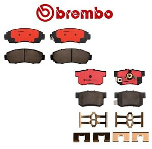 New Pair Set Of Front And Rear Disc Brake Pads Brembo For Acura Rdx Honda Cr V