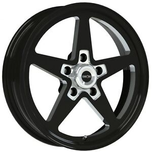 15x8 Vision Sport Star Ii Black Alumastar Pro Drag Race Wheel 5x4 75 No Weld 4 5