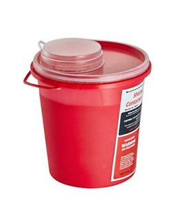 Adirmed Biohazard Sharps Needle Disposal 1 5 Quart Round Sharps Container