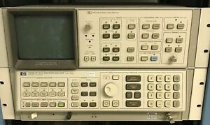 Hewlett Packard Hp Spectrum Analyzer Display With Spectrum Analyzer